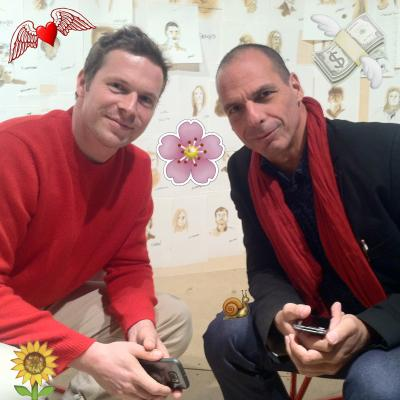 Leon Kahane and Yanis Varoufakis photographed by Keren Cytter