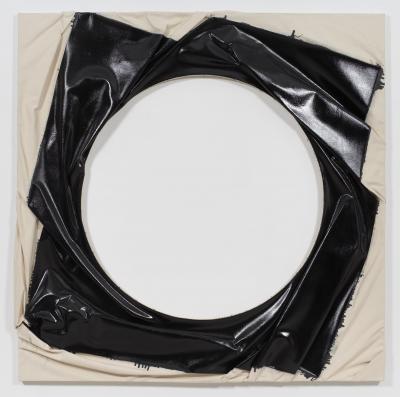 Steven Parrino, Spin-Out Vortex 2, 2000, enamel on canvas, 182 x 182 cm