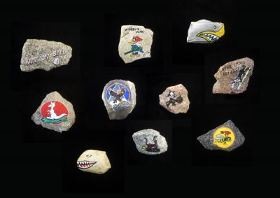 Stones to throw | 2011 | Installation, mail and public art project; painted stones, plinths, photographs, FedEx bills | views from streets of Diyarbakir | Courtesy of the artist | Photographs by Askin Ercan