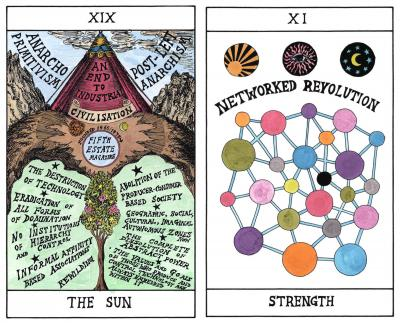 HEXEN 2.0/Tarot, 2009–11, Archival giclée prints with watercolour on Hahnemühle paper, each 29.7 x 21 cm