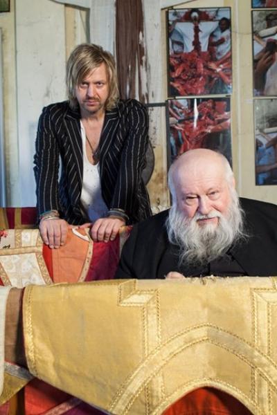 Piotr Uklanski & Hermann Nitsch Photo: Wolfgang Thaler