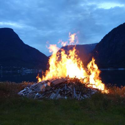 Bonfire, Olsok St Olav's Day, Skjolden