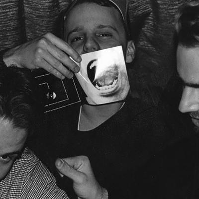 L to R: Scott Funderburk, Ethan S. Lee, Colin Lang with Barkmkaret CD insert, c. 1994