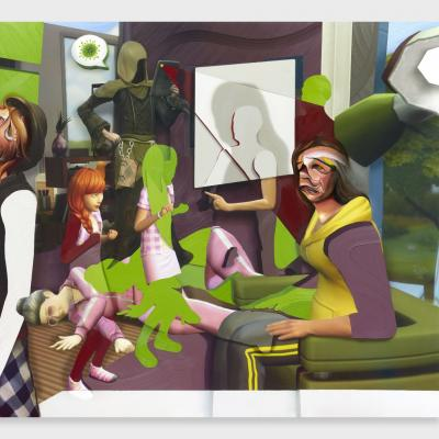 Pieter Schoolwerth, Shifted Sims #13 (Covid-19 Expansion Pack) , 2020.