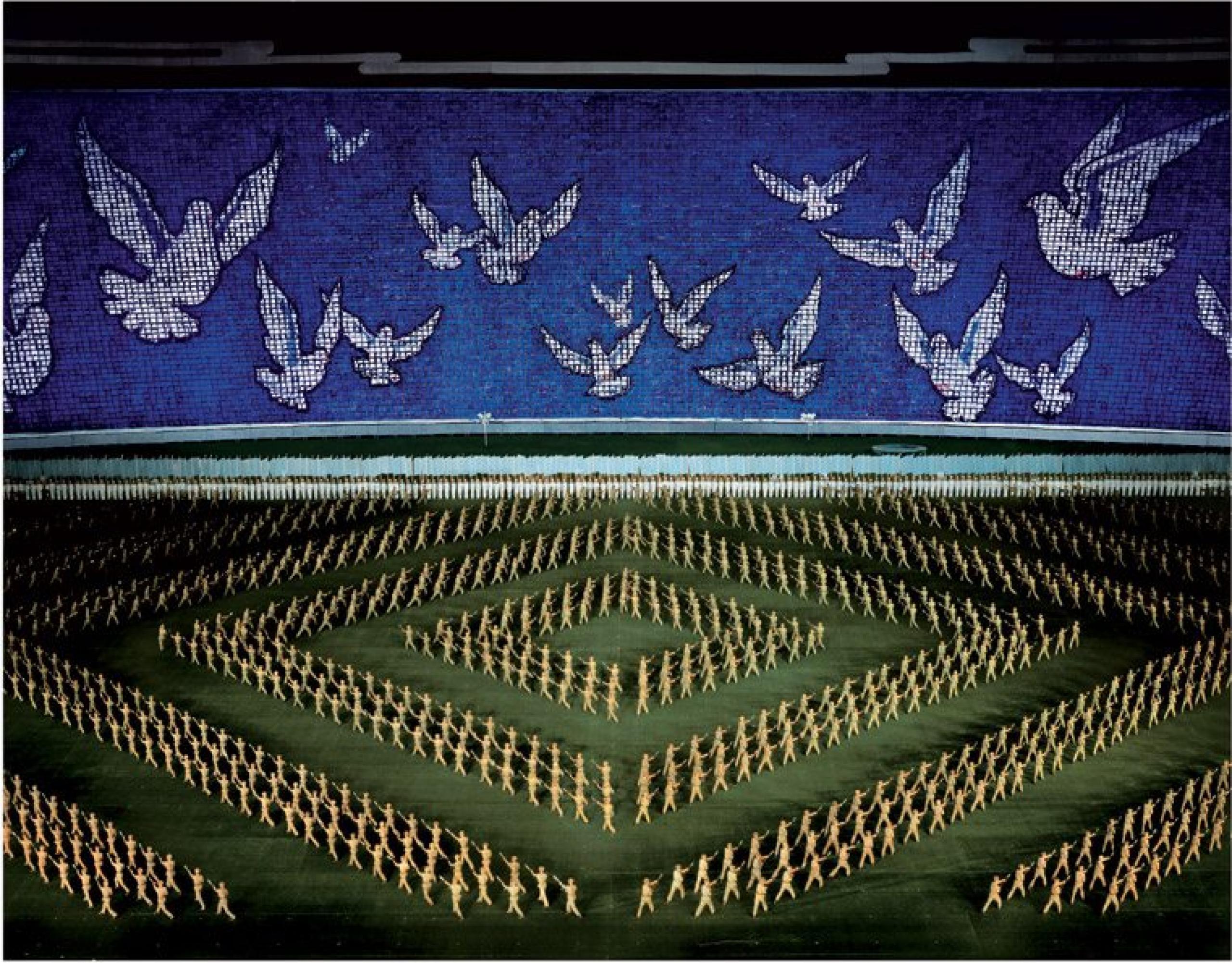 Andreas Gursky Pyongjang II Diptychon (2007, detail)