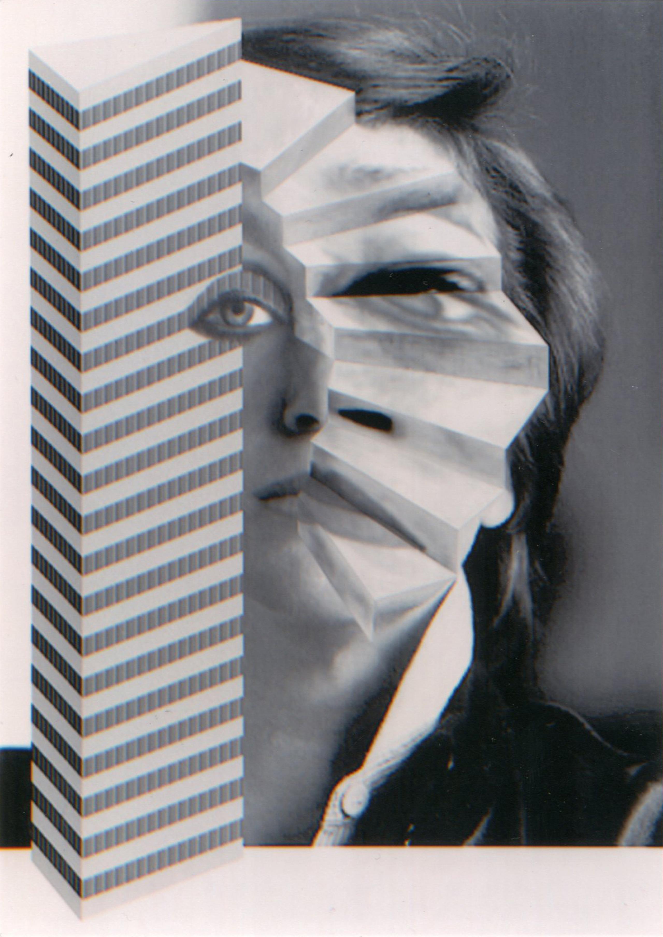 VALIE EXPORT Selbstportrait mit Stiege und Hochhaus ( 1989) LENTOS Kunstmuseum / VALIE EXPORT Center Linz © Bildrecht Wien, 2017