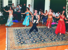 Mohammad Khordadian at a post-wedding ceremony performing with a group of dancers in Blair, California, mid-1990s