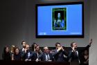 Salvator Mundi auction at Christie's New York in 2017