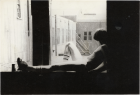 Alvin Baltrop, The Piers (man sitting on windowsill) , n.d. (1975-1986) silver gelatin print, 11x 17cm