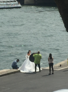 A bride on the Seine