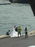 A bride on the Seine