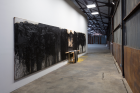 Three works by Hermann Nitsch, each untitled, 1997; Dallas Biennial 2016 at The Box Co. Courtesy of The Box Company, Dallas Biennial, Marc Strauss Gallery, Photo: Kevin Todora
