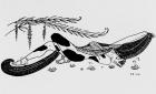 Drawing of Vaslav Nijinsky , George Barbier, 1913