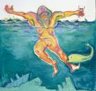 BODY CHECK, Maria Lassnig, Die Lebensqualität (Quality of Life), 2001, Öl auf Leinwand / oil on canvas, Copyright Maria Lassnig Stiftung ⁄ Foundation