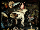 Detail from right panel of The Garden of Earthly Delights Hieronymus Bosch, 1503-1515
