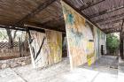 Vivian Suter Nisyros (2016, installation view) Photo: Stathis Mamalakis