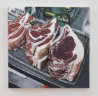 Steak Night , 2018 Acrylic on canvas on panel, 61 x 61 cm