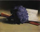 Edouard Manet, Bouquet de Violettes, 1872 as seen on the cover ofBaudelaire's Les Fleurs du Mal