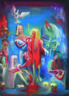 Positive on the QT , 1982 Oil on canvas, 198 x 142 cm