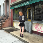 Kaitlin in Little Italy, NYC, September 14, 2015.
