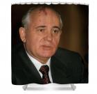 Mikhail Gorbachev Shower Curtain byPierre Rousel