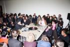 SPIKE BERLIN, 7:35 pm (Von links nach rechts):Marco Roso (DIS), Lauren Boyle (DIS), KoljaReichert, Hito Steyerl, Susanne von Falkenhausen
