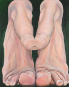 Jana Euler, Under this perspective, 1 , 2015 Oil on canvas, 190 x 150 cm Photo: Stefan Korte. Courtesy the artist and Galerie Neu, Berlin