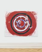 Jeannette Mund, Born Athlete American: Madison Kocian III , 2020, oil on canvas, 182 x 243 cm, courtesy the artist and Société. Photo by Société