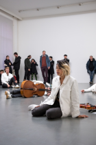 Kunsthalle for Music Composed by Ari Benjamin Meyers Witte de With Center for Contemporary Art, Rotterdam,January 25 – March 3, 2018 Courtesy: the artist and Esther Schipper, Berlin;Photo: © Nieuwe Bilden Makers