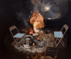Fire ,2021, Oil on canvas, 177x 213cm All images courtesy White Cube