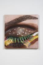 Burger Eye , 2015 Acrylic on linen on panel, 79 x 79 cm