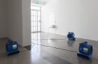 Untitled , Fans, bread boxes, dimensions variable