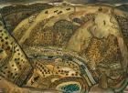 Duang Zhenqu, Sketching of Mizhi County II, 1987, oil on paper, 39x54cm, courtesy N3 Gallery