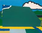 Raoul De Keyser, Hommage aan Brusselmans, 1969-1979, Acryl und Dispersion auf Leinwand,120 x 150 cm, Sammlung Hélène Heldens, Bornheiden, Copyright Familie Raoul De Keyser | SABAM Belgien 2019, photo Jens Ziehe