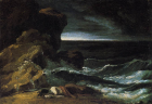 Théodore Géricault, The Wreck , 1821-1824 Oil on canvas 19 cm x 25 cm