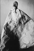 Senga Nengudi, Study for Mesh Mirag e, 1977, Gelatin silver print Performer: Senga Nengudi. Original photograph: Adam Avila Courtesy galleries Thomas Erben, Lévy Gorvy, and Sprüth Magers © Senga Nengudi 2019