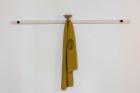 Soshiro Matsubara, Sphinx I , 2020, glazed ceramics, acrylic, wood, fabric, 94×161×14cm