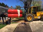 Installing a Sterrling Ruby work outside Karma's Amagansett location.