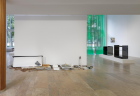 """Installation view, T""""he Displacement Effect"""", curated by Kirsty Bell and Jochum Rodgers, Capitain Petzel, Berlin, 2021. Photos: Gunter Lepkowski"""