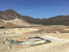 Vivian Suter, Above the crater Stephano end of October ,in situ during her residency at Sterna Art Project, Nisyros,Greece, 2016